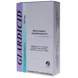Antibiótico Giardicid 500mg Cepav Com 10 Comprimidos