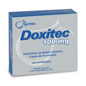 Antibiótico Doxitec 100mg Syntec Com 16 Comprimidos