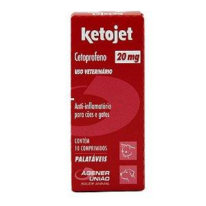 Anti-Inflamatório Ketojet 20mg Agener União Com 10 Comprimidos