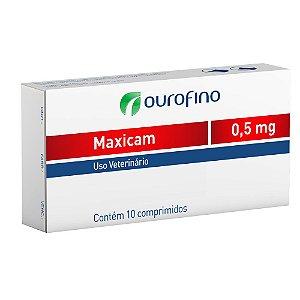Anti-Inflamatório Maxicam Ouro Fino 0,5mg Com 10 Comprimidos