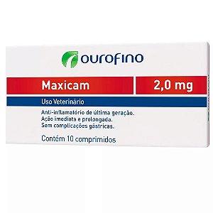 Anti-Inflamatório Maxicam Ouro Fino 2,0mg Com 10 Comprimidos