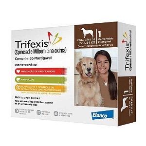 Anti Pulgas e Vermífugos Trifexis Elanco Para Cães de 27,0kg a 54,0kg - 1620mg