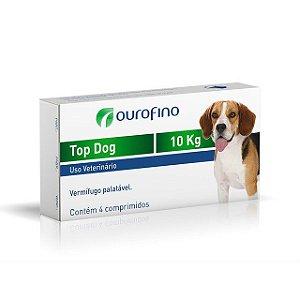 Vermífugo Top Dog Ouro Fino Até 10,0kg Com 4 Comprimidos