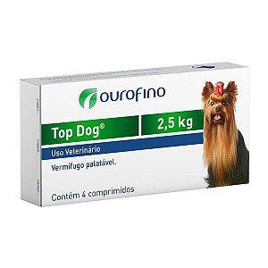 Vermífugo Top Dog Ouro Fino Até 2,5kg Com 4 Comprimidos