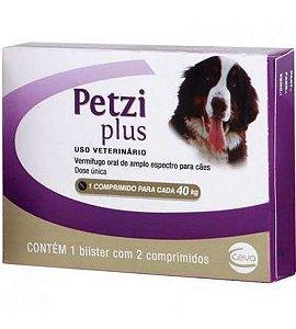 Vermífugos Petzi Plus Ceva Para Cães de 10,0kg Até 40,0kg