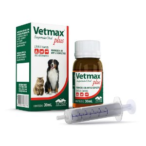 Vermífugo Vetmax Plus Vetnil Suspensão - 30ml