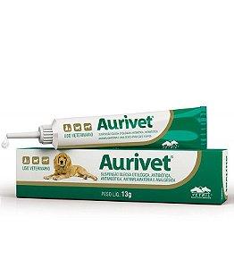 Pomada Para Tratamento Otológico Aurivet Vetnil - 13g