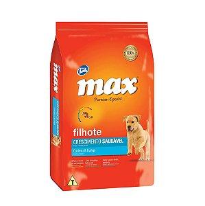 Ração Max Sabor Cordeiro e Frango Para Cães Filhote 10,1kg