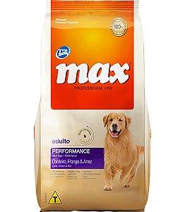 Ração Max Professional Line Cães Adultos Sabor Cordeiro,  Frango E Arroz 20kg