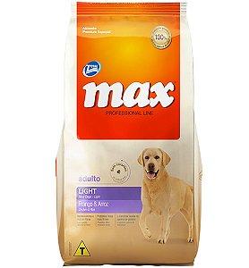 Ração Max Professional Line Light Cães Adultos Sabor Frango E Arroz 15kg