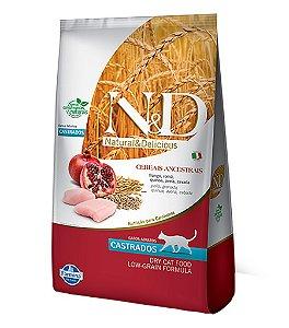 Ração N&D Low Grain Para Gatos Castrados Sabor Frango e Cereais 400g