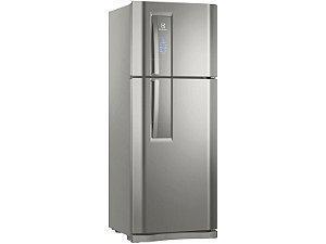 Geladeira / Refrigerador Electrolux Frost Free Inox - Duplex 427L Painel Touch DF53X