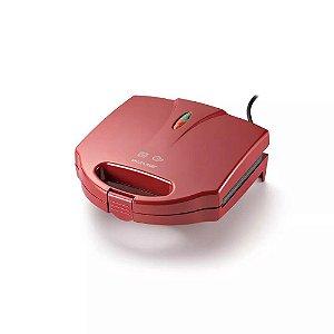 Sanduicheira e Grill 750w Vermelha 127v Multilaser