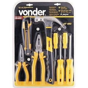 Jogo de ferramentas com 8 peças - KF 080 - Vonder