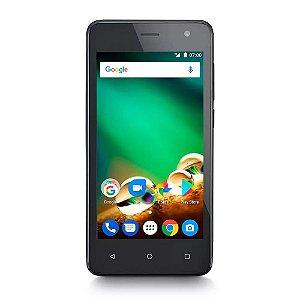 "Smartphone Multilaser MS45 4G 1GB Preto Tela 4.5"" Câmera 8"