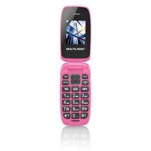 Celular Flip Up Câmera MP3 Dual Chip Rosa Multilaser - P902