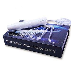 Aparelho Alta Frequencia Portatil Para Limpeza e Tratamentos de Pele -Acompanha 4 Eletrodos