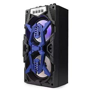 Caixa De Som Portátil Bluetooth Fm Usb Led Grasep D-BH4205