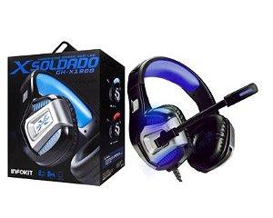 Headphone Gamer 7.1 Surround Ps4 Pc Smartphone Azul Gh-X1800 Xsoldado