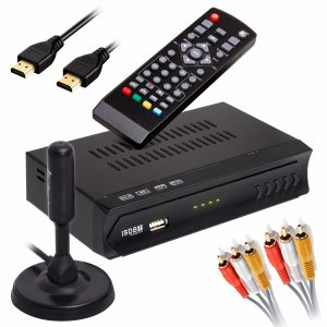 Kit Conversor Digital Fullhd Infokit + Antena Digital HDTV