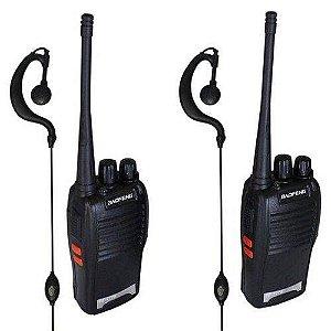 Radio Comunicador Walkietalkie Baofeng Bf777s com Fone de ouvidos 2 Rádios