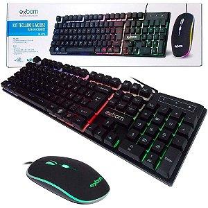 Kit Gamer Teclado Semi Mecânico Mouse Bk-g550 Abnt2 Usb K5 AZ Importados