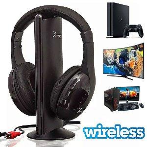 Fone De Ouvido Wireless 5 Em 1 Knup Kp-323 para TV AZ Importados
