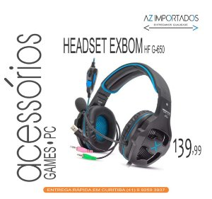 Fone de Ouvido Headphone Gamer com Led  Exbom Hf-G650