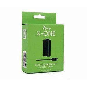 Bateria Controle Xbox One com cabo USB Knup Kp-5128