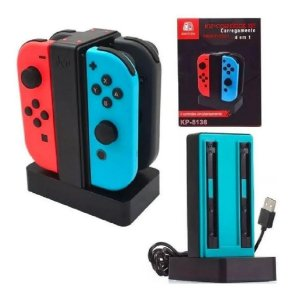 Base Carregador Nintendo Switch Até 4 Controles Kp-5136