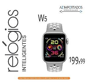 Relógio Smartwatch Pulseira Inteligente W5 Bluetooth Android IOS Várias Cores