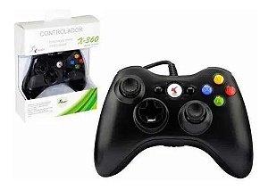 Controle Joystick Xbox 360 com fio Pc Knup Kp-5121a