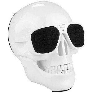 Caixa De Som Bluetooth Caveira Crânio Sd Usb