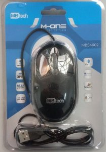Mouse Óptico com fio sb 1600dpi Mb54002