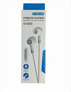 Fone De Ouvido Intra-Auricular Com Microfone It-Blue Le-0222
