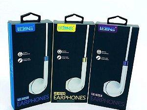 Fone De Ouvido Lelong Earphones Le-0218