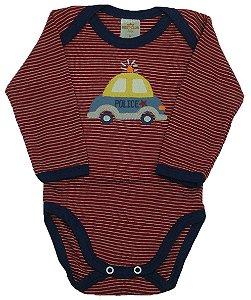 Conjunto de Body e calça nas cores marinho/vermelho: Body manga longa e calça sem pé  - Suedine (Best Club)