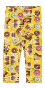Legging em Cotton Confort Menina Amarela - Elian