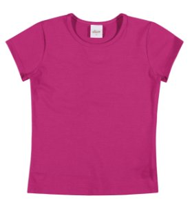 Blusa em Cotton Confort Menina Pink - Elian