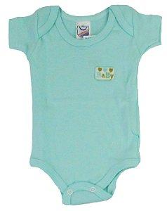 Body Manga Curta Baby Unissex Verde - Babynha