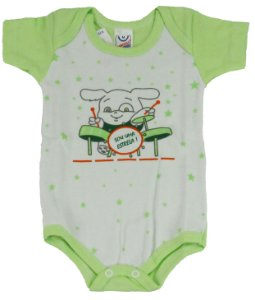 Body Manga Curta Menino Verde - Babynha