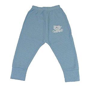 Culote Sem Pé Ursinho Menino Azul - Babynha