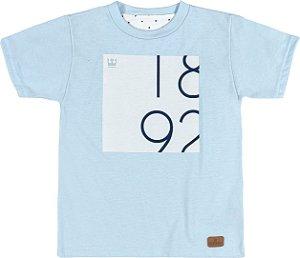 485dc38a537ce Camiseta Manga Curta em Malha Atlanta Estampada Menino Azul Claro -  Colorittá