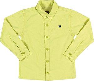 Camisa Manga Longa em Tricoline Menino Verde - Colorittá