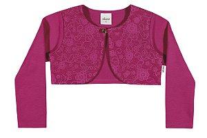 Bolero em Molecotton Premium Menina Pink - Elian