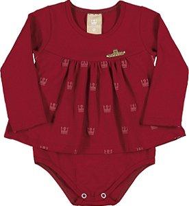 Body em Cotton Confort Menina Vermelho - Colorittá