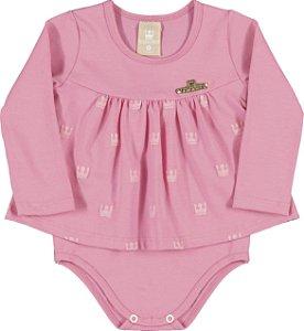 Body em Cotton Confort Menina Rosa - Colorittá