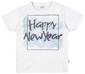 Camiseta Estampada Menino Branco - Elian