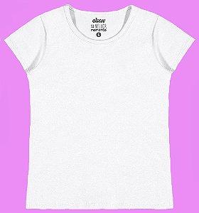 Blusa em Cotton Confort Menina Branco - Elian