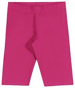 Shorts Ciclista em Cotton Confort Menina Pink - Elian